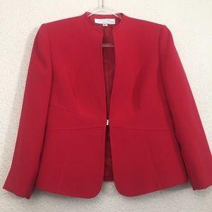 Tahari Red Fitted Blazer